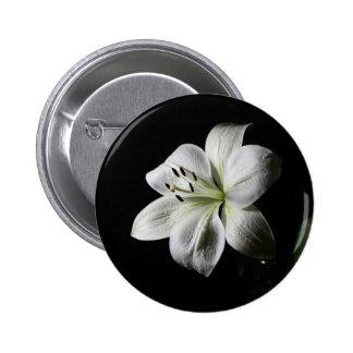 White Lilly Standard 2¼ Inch Round Button