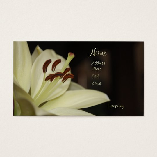 White Lily Business Card