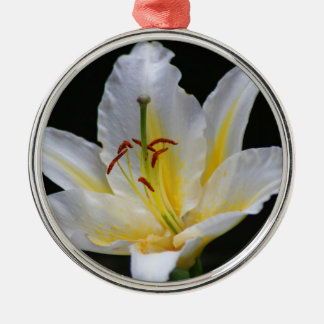 white lily christmas ornament