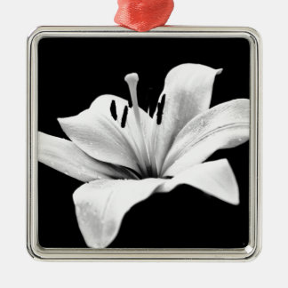 White lily christmas ornaments