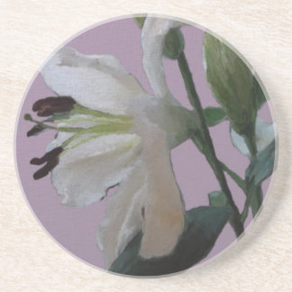 White Lily Drink Coaster