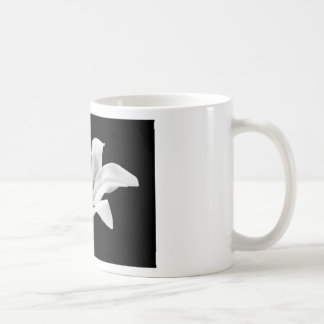 White lily coffee mug