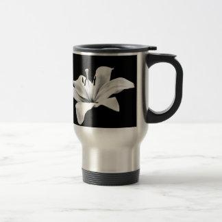 White lily coffee mugs