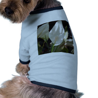White Lily Dog Tee Shirt