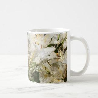 White Lily Easter Art Basic White Mug