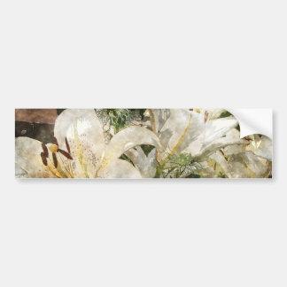 White Lily Easter Art Bumper Sticker