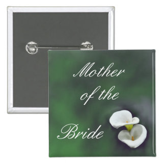 White Lily Flowers Mother of the Bride Button