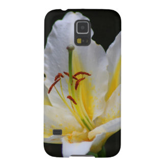white lily galaxy s5 cover