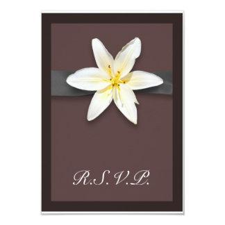 White Lily Custom Invitation