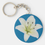 White Lily Keychains