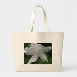 White Lily Large Tote Bag