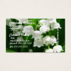 White Lily of the Valley Business Cards