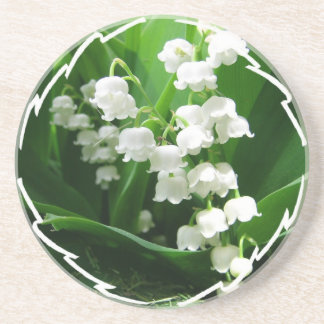 White Lily of the Valley  Coaster