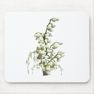White lily of the valley flowers mouse pad