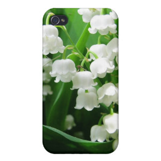 White Lily of the Valley  Cases For iPhone 4