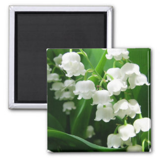 White Lily of the Valley Magnet
