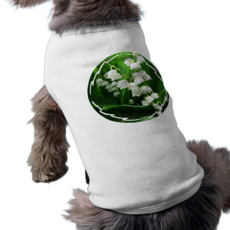 White Lily of the Valley Pet Shirt