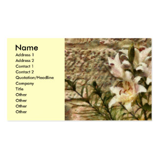 White Lily Pack Of Standard Business Cards