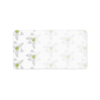 White Lily Pattern. Label