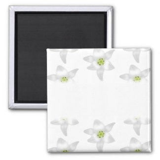 White Lily Pattern. Refrigerator Magnets