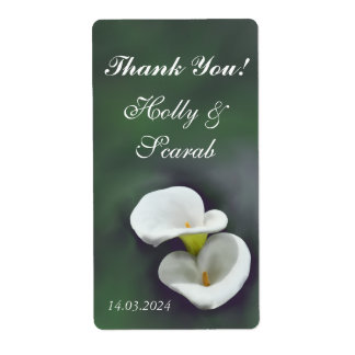 White Lily Personalized Wine Labels