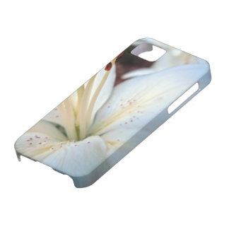 white lily pretty iPhone 5 cover