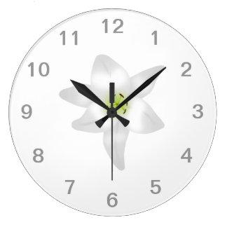 White Lily. Wall Clocks