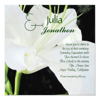 White Lily Wedding Invitation
