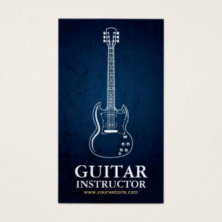 White Line Guitar Instructor, Musical Instrument Business Card
