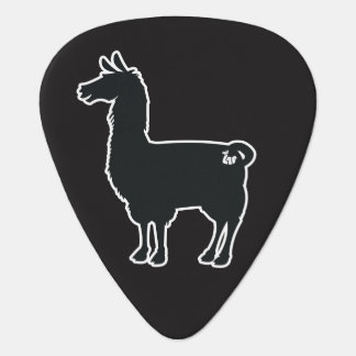 White Line Llama Guitar Pick