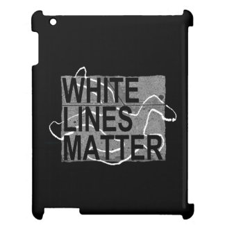 white lines matter iPad cover