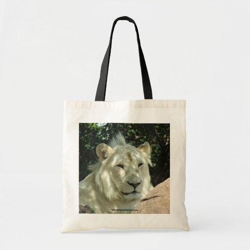 White Lion Canvas Bag