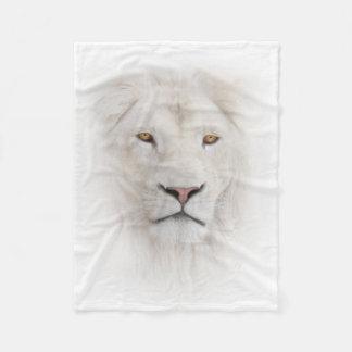 White Lion Head Small Fleece Blanket