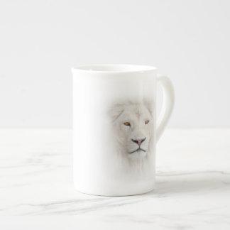 White Lion Head Tea Cup Bone China Mug