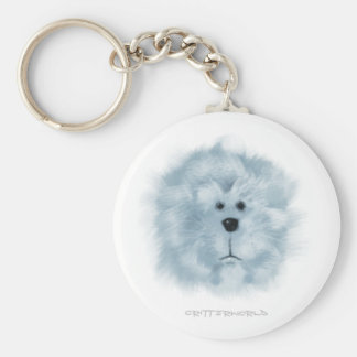 White_Lion Basic Round Button Key Ring