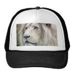 White lion mesh hat
