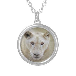 White Lion Spirit Warrior Africa Silver Plated Necklace