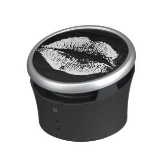 White Lips Bluetooth Speaker