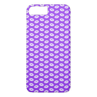 White Lips On Super Bright Neon Purple iPhone 8 Plus/7 Plus Case