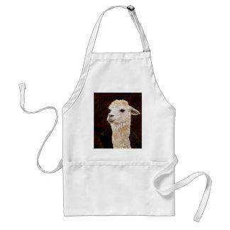 White Llama Apron
