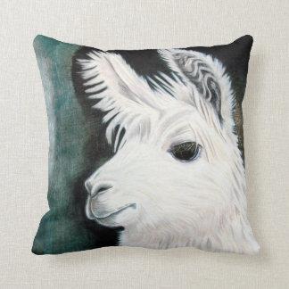 White Llama Cushion
