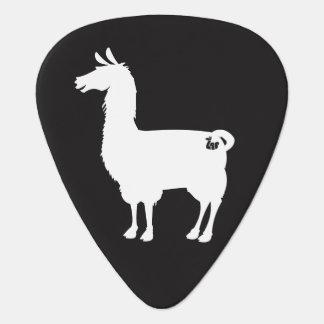 White Llama Guitar Pick