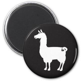 White Llama Magnet