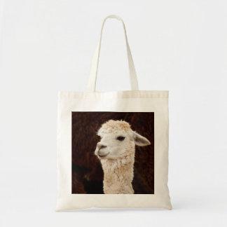 White Llama Tote Bag