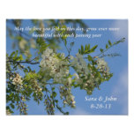White Locust Flowers Wedding Or Anniversary Poster