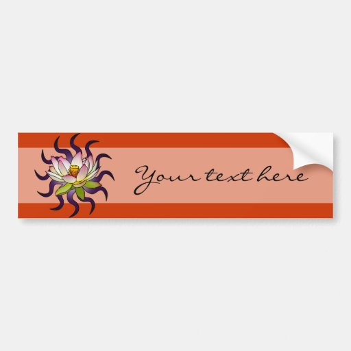white long rec inner, Lotus, Your text here Bumper Stickers