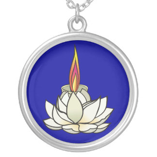 White Lotus & Deepas Silver Plated Necklace
