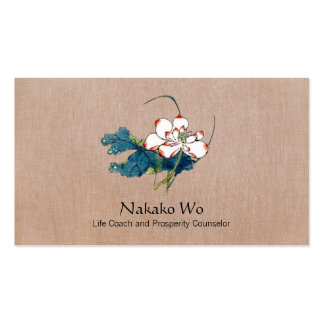 White Lotus Flower Healing Arts Holistic Health Business Cards