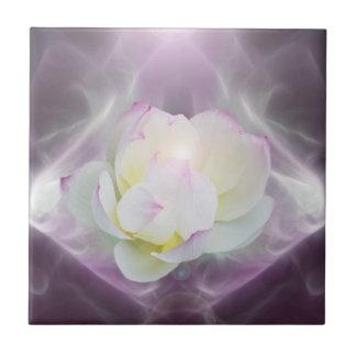 White lotus flower ceramic tiles