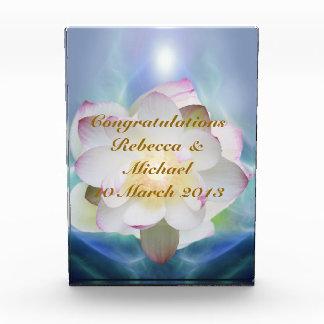 White lotus flower wedding congratulations